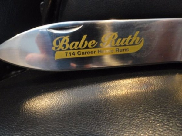 Babe Ruth #3 Franklin Mint Collector Knives '96 Career Home Run 714 Stainless