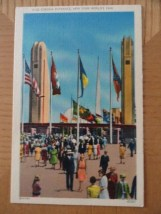Vintage F 122 Corona Entrance New York World's Fair 1939 Linen Post Card 2443