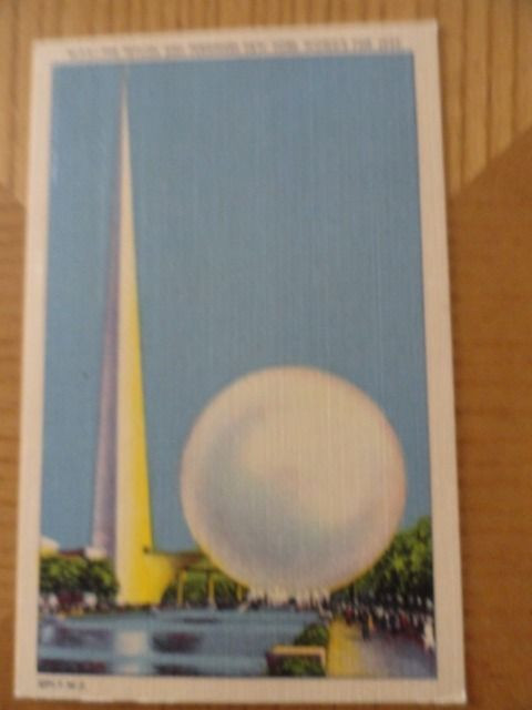 Vtg F9 The Trylon And Perisphere New York World's Fair 1939 Linen Post Card 2443