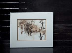 Nanci Blair Clossoms Signed Original Art Watercolor Abstract Forest Trees Framed