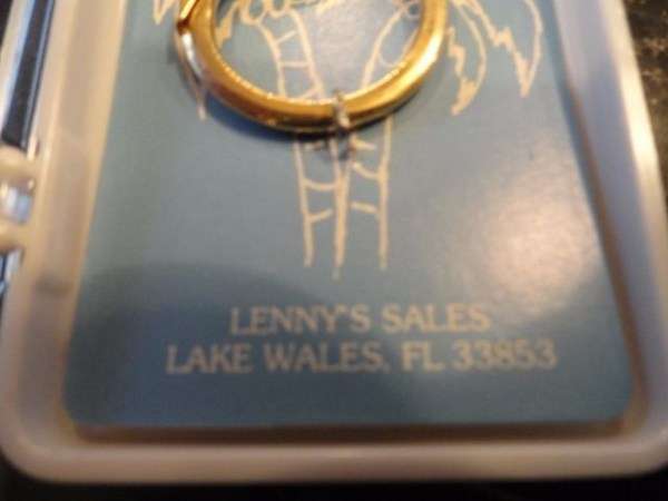 Vintage Black Hills Passion Play Lake Wales Florida Enamel Gold Key Chain NIB