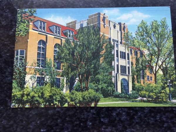 Vtg Postcard Unposted THE MICHIGAN LEAGUE BUILDING University OF MICHIGAN