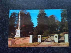 Vtg Postcard Unposted Military Fredericksburg VA National Cemetery  Fifth Corps