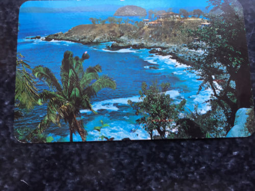 "Vtg Postcard Unposted View of Mismaloya Beach & ""Arches"" Puerto Vallerta Mexico"