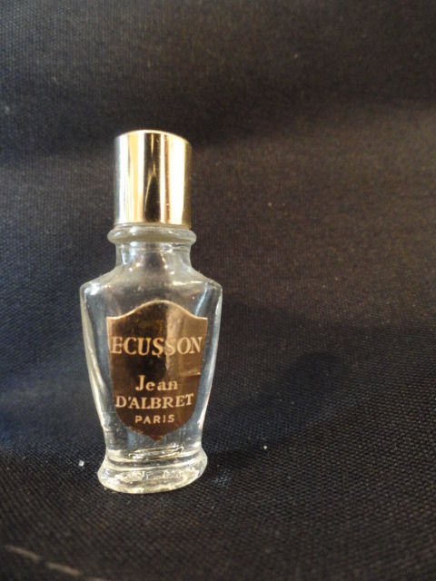 Vintage Micro Mini Perfume ECUSSON Jean D'ALBRET PARIS Empty Bottle Only 1 1/2""