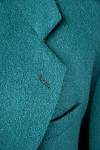 Men's BACHRACH Dark Teal Sports Coat Jacket 40 Short Columbia NWOT Wool Cashmere