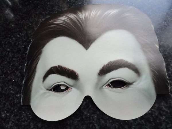 "Nick At Night Halloween Paper Mask Dracula ""Some Really Scary Ideas"" Classic TV"