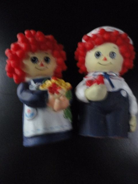 "Vtg 1977 Raggedy Ann & Andy Finger Puppets BOBBs MERILL CO. 3"" Ex Cond"