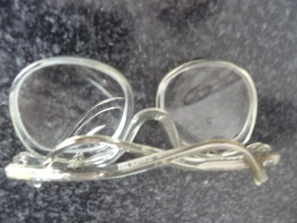 Vintage 1970's Eye Make Up Eyeglasses Mod Retro Made of Glass Beautiful Temples