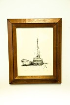 "Vtg ""BELLE RIVER"" Ship Great Lakes Artist J. Clary 59/180 Signed Framed"