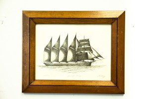 "Vtg ""DAVID DOWS"" Ship Great Lakes Artist J. Clary 180/750 Signed Framed"