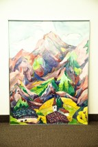 "Vtg 70's  JOHANNA HAAS ""THE ALPS PASTEL MOUNTIANS""  Watercolor Painting Signed"