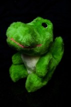 "Vintage 1987 Animal Fair GREEN ALLIGATOR 8"" Plush STUFFED ANIMAL Toy EDEN"