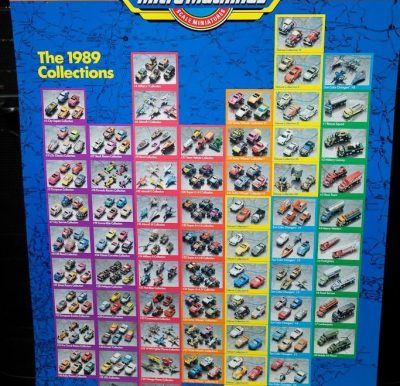 Micro Machine Poster The 1989 Collection  Miniatures Cars Trucks Galoob Toys