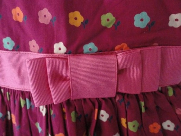Girl's Baby Gap Flowered Dress Panties Pink Bow Empire Waist Toddler 2 NWOT