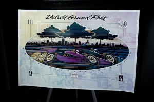 Vtg 1994 Detroit Grand Prix  9 Belle Isle Poster ITT Automotive John R. Clarey