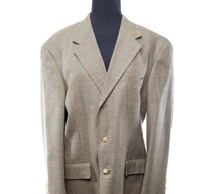 Men's Tommy Hilfiger All Pure Wool Tweed Sports Coat Jacket Size 42 S NWOT USA