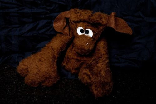 "Vintage 1972 The Puppet Factory Brown Bear Puppet Palo Alto Calif 12"" x 6"" NWOT"