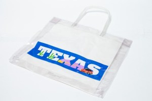 "Women's TEXAS Clear See Through Plastic Handbag Tote 15"" x 13"" x 2"" NWOT"