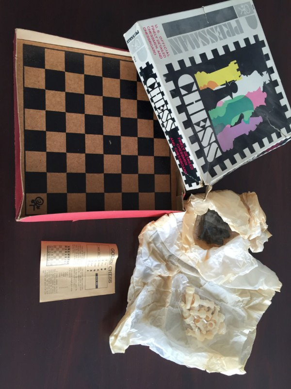VTG 1960's GOLDEN CHESS PRESSMAN No 1124 US OFFICIAL FINELY DETAILED CHESSMAN