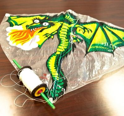 "Vintage Kite Dragon GUNTHER FEVER DRACHE No. 87 With Wooden Kite String 29"" 25"""