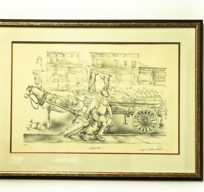 "NYC Artist Seymour Rosenthal ""The Seltzer Man"" 104/250 Signed in Pencil"
