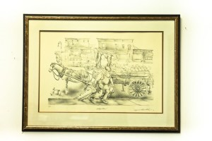 """NYC Artist Seymour Rosenthal """"The Seltzer Man"""" 104/250 Signed in Pencil"""