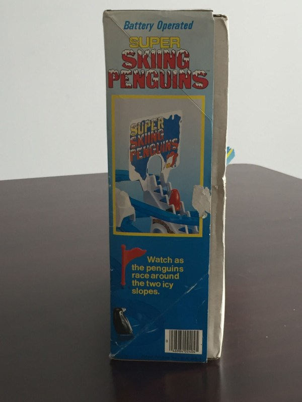 Vintage 1984 SUPER SKIING PENGUINS BATTERY OPERATED DAN YANG TOY Ages 4 & Up