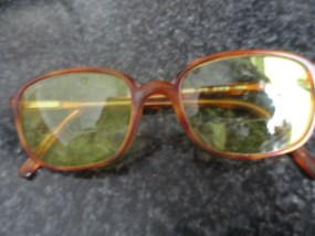 Vintage Tortoise Shell Rectangle Eyeglasses Yellow Tinted GIORGIO ARMANI Plastic