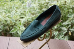 Vtg Women's VANELi Soft Hunter Green Loafers Shoes 6M Italy Ex Cond