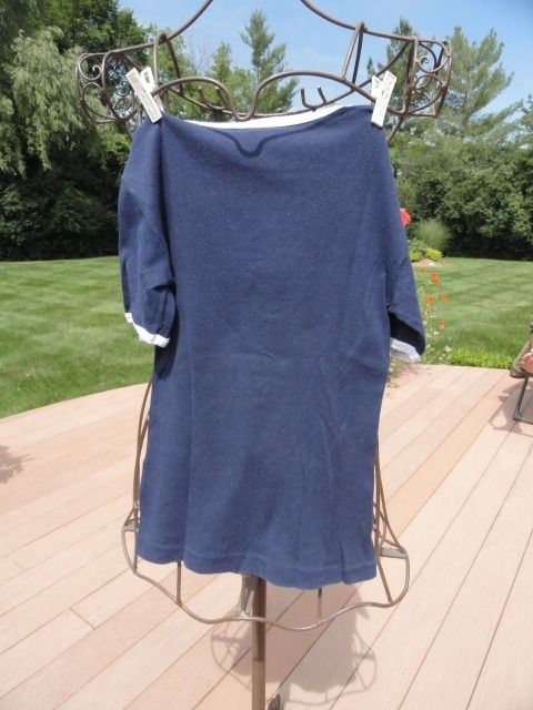 Vintage Emilio Pucci Blue White Blouse Top Florence Italy 100% Pure Cotton Med