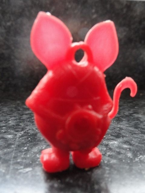 Vintage 1960's Red Rat Fink With Blank Eyes Charm Gumball Excellent Cond