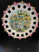 Vintage GEORGIA Cut Out Collector Plate Empire State Of The South Dixie Japan