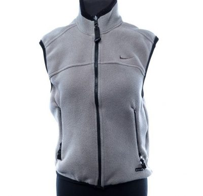 Women's Nike Fit Vest ACG Thermal Layered Polartec Gray Black 4-6  NWOT