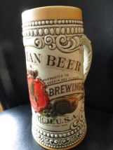 Stroh Beer Stein 1987 Heritage IV Collection Series Label 1880-1900 #48018 New