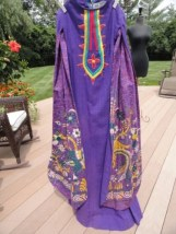 Vintage 70's Mama Carlota Tlaquepaque  Maxi Dress Escalera Made in Mexico S 8