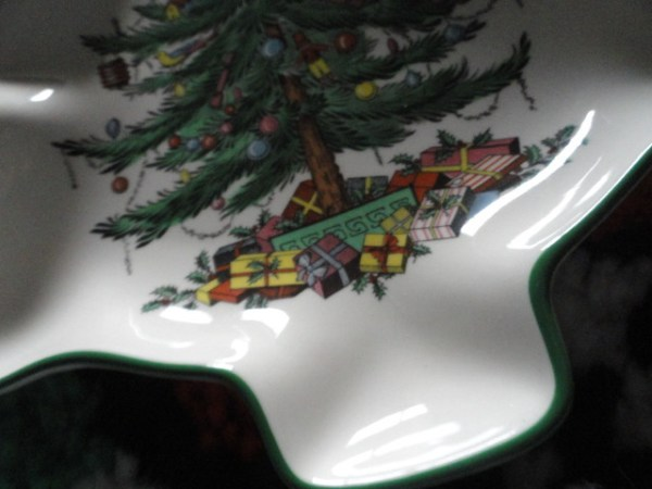 Vintage Christmas Spode Christmas Tree Dish With Original Box S3324P  37