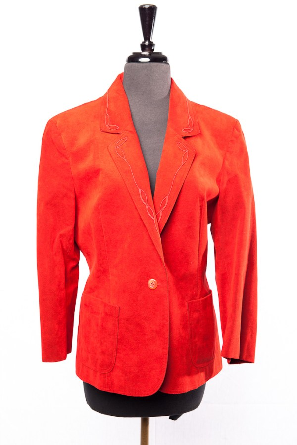 Adolph Schuman Skinner Ultra Suede Burnt Orange Women's Jacket Made In USA