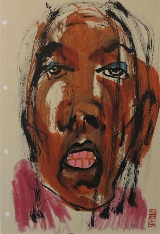 girl, mixed media by friedrich zettl