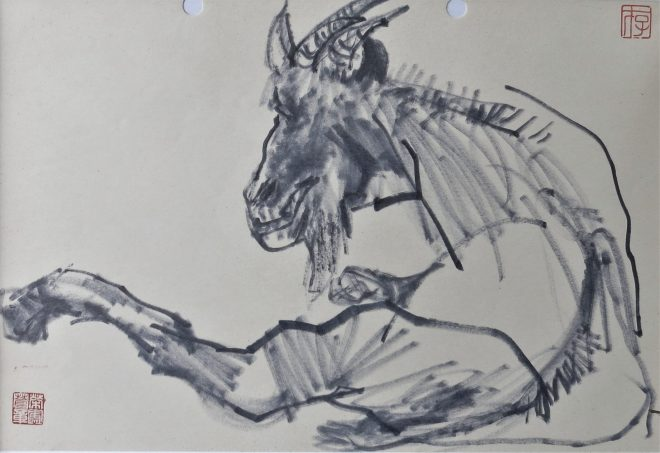 goat art work by friedrich zettl