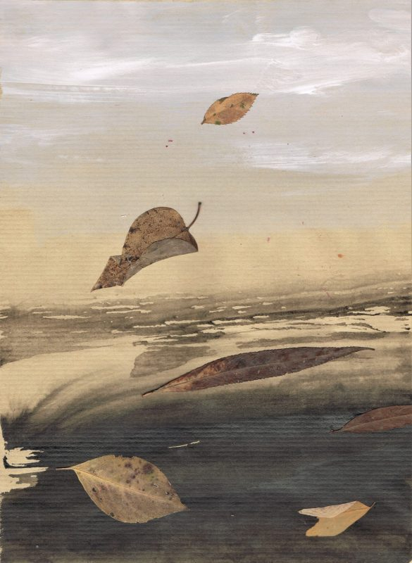 mixed media by friedrich zettl with leaves