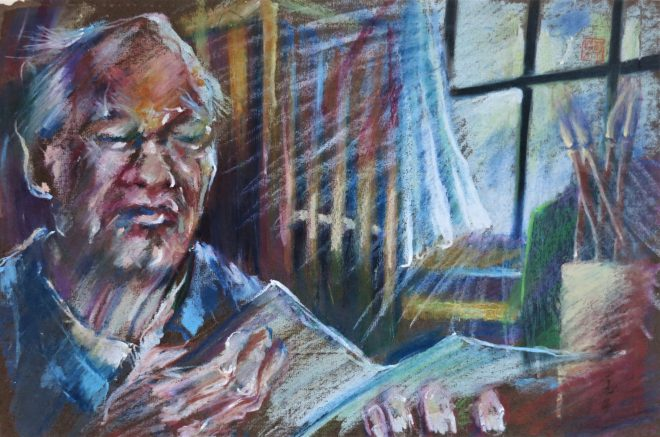 painting of a chinese intellectual