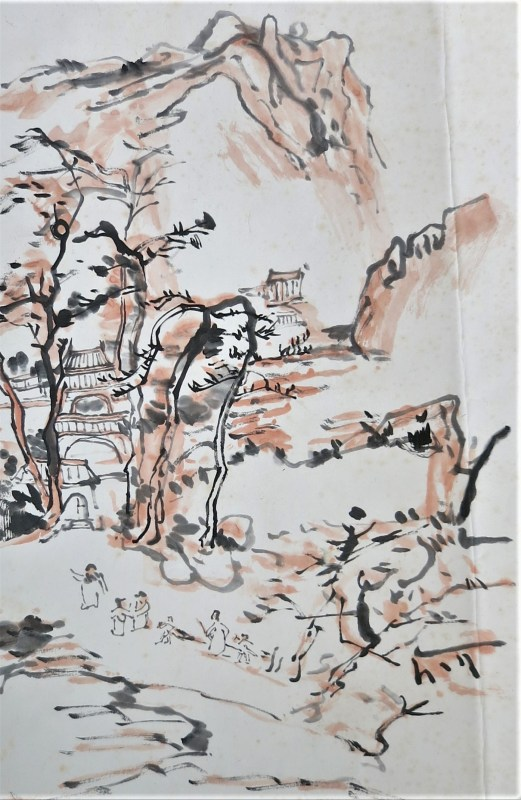 landscape painting after Huang Binhong