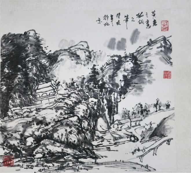 landscape painting ink on rice paper