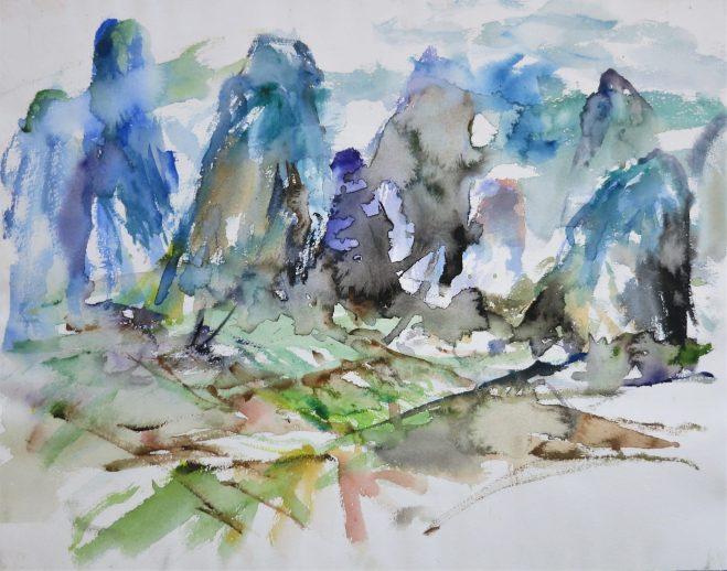 landscape painting Gui Lin 桂林