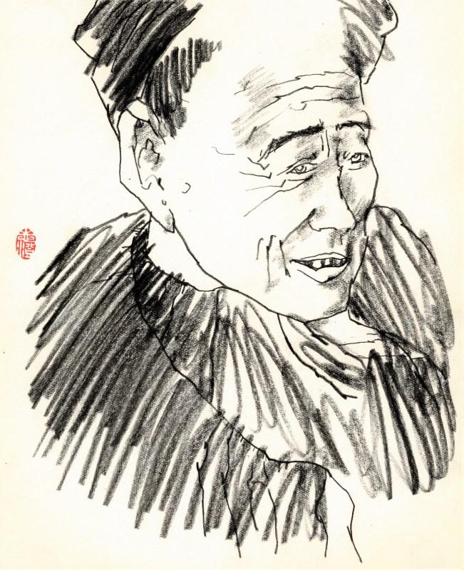 Friedrich Zettl early sketchbook with chinese minorities