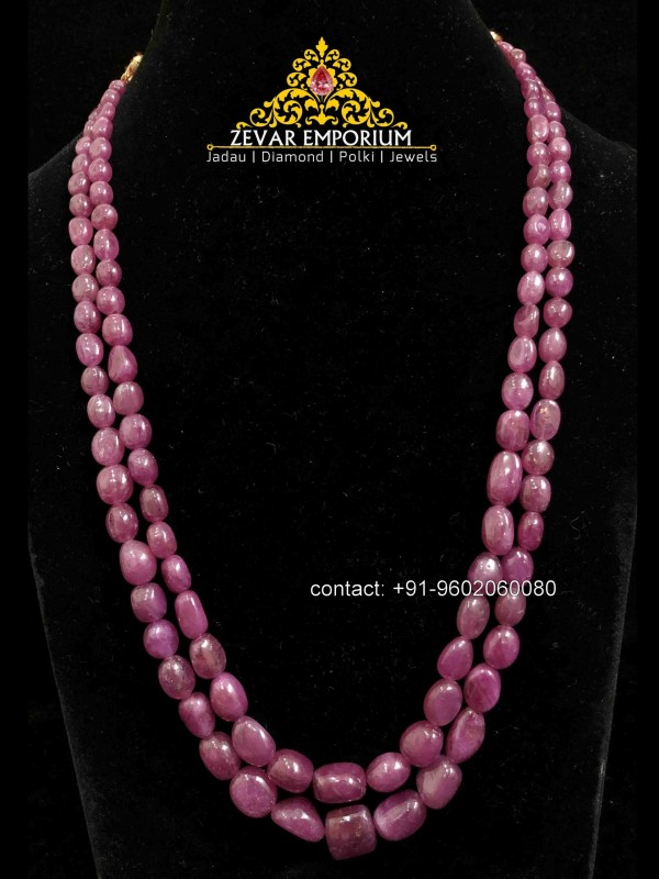 High Quality Rubies Double layer Necklace