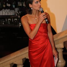 "Event host for ""Miss Frankfurt Competition""."