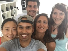 Selfie with the amazing Asana Yoga team.