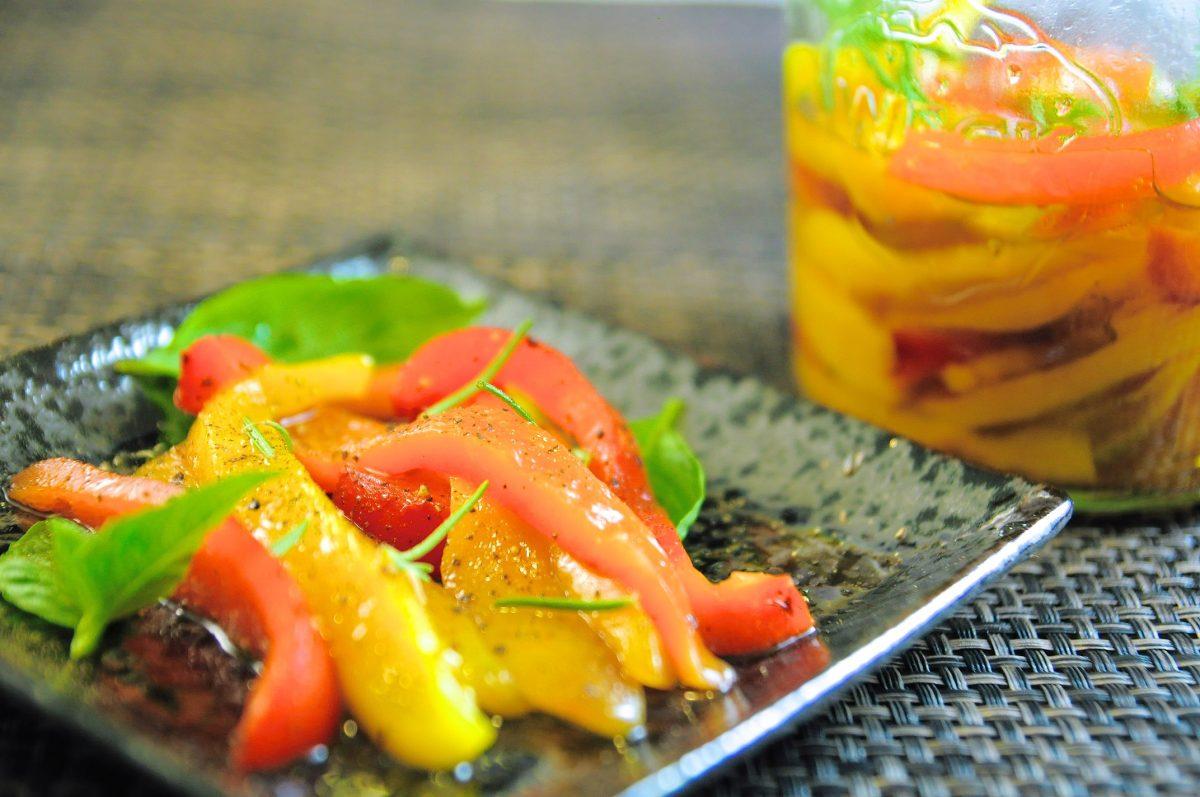 義式漬物:油漬甜椒